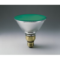 GREEN COLOR INDOOR/OUTDOOR REFLECTOR SPOT LAMPS 100PAR/GREEN Medium Base Packed 6