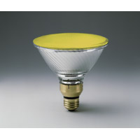 YELLOW COLOR INDOOR/OUTDOOR REFLECTOR SPOT LAMPS 100PAR/YELLOW Medium Base Packed 6