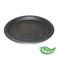 "BIODEGRADABLE 9"" BLACK ROUND PLATES 400 PACK ON SALE! WAS $59.95 NOW ONLY $45!"