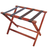 "ECONOMICAL HARDWOOD WITHOUT WALL GUARD Dark wood 20x26x19"" rack"