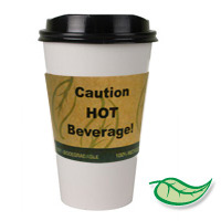ACTIVA™ HOT BEVERAGE SLEEVE RECYCLED & COMPOSTABLE For 8-10oz cups (1200)