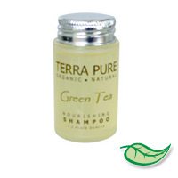 TERRA PURE GREEN TEA ORGANIC NOURISHING SHAMPOO 1.2 oz. Packed 300
