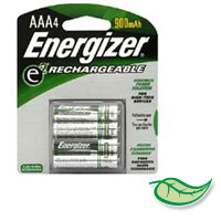 ENERGIZER® RECHARGABLE BATTERIES Size AAA - packed 4