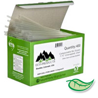 "COMPOSTABLE & RECYCLABLE UNWRAPPED PLA STRAWS Clear 7.75"" (400)"