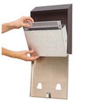 """SMOKERS STATION® WALL MOUNT SMOKING URNS Black coated metal locking urn 10x3x12.5"""""""