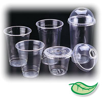 ECO CORN CLEAR COLD CUPS BIODEGRADABLE & COMPOSTABLE Clear lids for 1oz portion cups