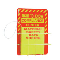 RIGHT-TO-KNOW WALL CENTER FOR SDS SHEETS Deluxe