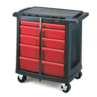 "RUBBERMAID® 5-DRAWER MOBILE WORK CENTER 32.63""x19.9""x33.5"""