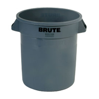 BRUTE® 10 GALLON ROUND CONTAINERS Gray container 15.63x17.13""