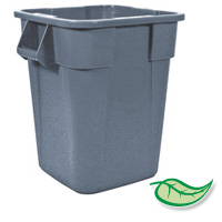 "BRUTE® 40 GALLON SQUARE CONTAINERS Gray container 23.5x28.75"""