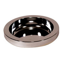 RUBBERMAID® SMOKING MANAGEMENT ACCESSORIES Chrome round ashtray top 10.63x2.25""