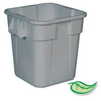 BRUTE® 28 GALLON SQUARE CONTAINERS Gray container 21.5x22.5""