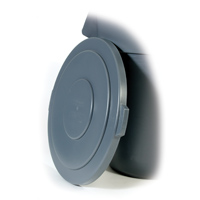 """BRUTE® 55 GALLON ROUND LIDS AND TOPS Gray lid 26.75x2"""""""