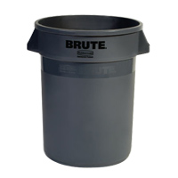 BRUTE® 32 GALLON ROUND CONTAINERS Gray container 22x27.25""