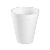 WHITE INSULATED FOAM CUPS 8 oz - 1000