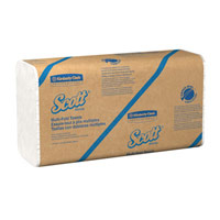 SCOTT MULTI-FOLD PAPER HAND TOWELS 100% RECYCLED White 16/250ct