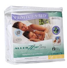 """PROTECT-A-BED ALLERZIP TERRY MATTRESS ENCASEMENT Twin 9"""" (10)"""