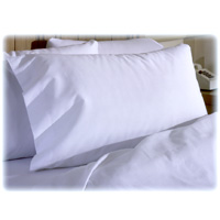 COMFORT T200 SOLID WHITE PERCALE POLY/COTTON BLEND Queen Pillowcases