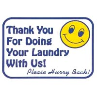 """""""THANK YOU FOR DOING LAUNDRY WITH US"""" LAUNDRY SIGN 12""""x16"""" #L606"""