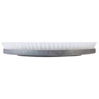 "HORSEHAIR BLEND PLASTIC BLOCK BRUSH WITH CLUTCH PLATE Gray. 8"" width. 2-1/8"" trim. Horsehair bristles."