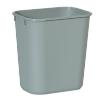 WASTEBASKETS - DESKSIDE & UNTOUCHABLE® LIDS 13.5qt Gray container 11.38x8.25x12.13""