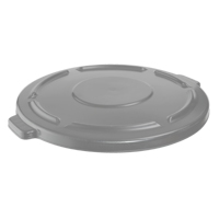 BRUTE® 20 GALLON ROUND LIDS AND TOPS Gray lid 19.88x1.8""