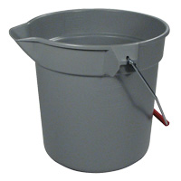 RUBBERMAID® BUCKETS  10qt Brute Gray round utility