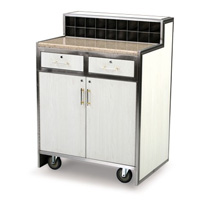 FORBES™ VALET STATION  White oak veneer & Autumn wheat corian top
