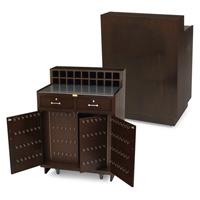 FORBES™ VALET STATION  Satin Mahogony veneer & avonite top