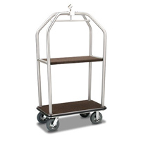 FORBES™ BIRDCAGE DELUXE LUGGAGE CARTS Brushed Stainless Steel