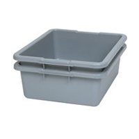 RUBBERMAID® FOOD, UTILITY & BUS TOTE BOXES & LIDS Gray 4-5/8gal bus & utility box 20x15x5""