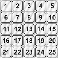 """WASHER ID NUMBERS, BLACK ON SILVER, 3/4"""" SQUARE Sheet of Numbers 1-25"""