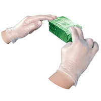 DISPOSABLE VINYL POWDER FREE GENERAL PURPOSE GLOVES Large (100) Clear