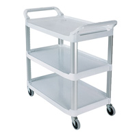 XTRA™ CARTS 300lb CAPACITY White utility with open shelves 40.62x20x37.8""
