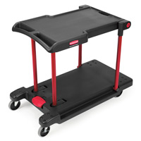 RUBBERMAID® CONVERTIBLE UTILITY CART PLATFORM TRUCK Black folds flat for storage 45.2x23.8x34.4""
