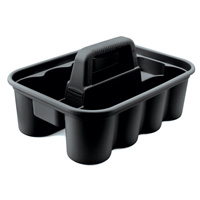 """RUBBERMAID® HOUSEKEEPING & CLEANING CART ACCESSORIES Black deluxe carry caddy 15x10.9x7.4"""""""