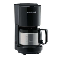 CUISINART® 4-CUP COFFEEMAKER Black with stainless steel caraf