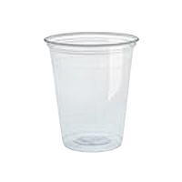 LIGHTWEIGHT PLASTIC COLD CUPS 7 oz, Translucent, Packed 2500