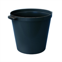 ROUND PLASTIC ICE BUCKET WITH HANDLES 3 qt, Black, Packed 1 each