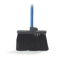 "DUO-SWEEP LIGHT INDUSTRIAL ANGLE BROOM WITH HANDLE 48"" blue metal handle"
