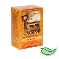 NUMI ORGANIC DECAFFEINATED TEA BAGS BOXED Herbal Red Mellow Bush Roobios. Packed 6/18
