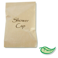 TERRA PURE SHOWER CAP In Brown Paper Sachet. Packed 1000