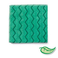 "HYGEN™ MICROFIBER SURFACE CLOTHS & HAND MITTS 16"" Green all purpose surface cl 16x16"""