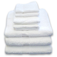 "SILVER COLLECTION CAM BORDER 100% COTTON TERRY TOWELS Hand Towels 16x27"" 3lbs/dz"