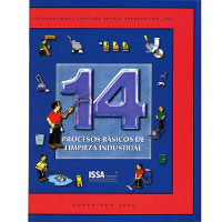 """14 PROCESOS BASICOS DE LIMPIEZA INDUSTRIAL"" LOANER BOOK Spanish version. Simple ""how to"" guide on cleaning..."