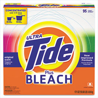 TIDE WITH BLEACH LAUNDRY DETERGENT Powder detergent, packed 2/144oz containers