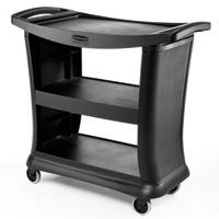 "RUBBERMAID® EXECUTIVE SERVICE CARTS Black 3 shelf cart 39x21x38"""