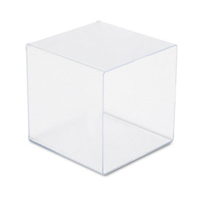 CUBE FACIAL TISSUE DISPENSER  Clear, Sold Individually **limited to stock on hand**