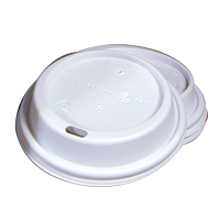 SIPPER DOME LID FOR 8oz DOUBLE WALL HOT CUPS White 1000/cs
