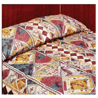 "TREVIRA GOLD OASIS PATTERN Queen bedspread 102x115"""